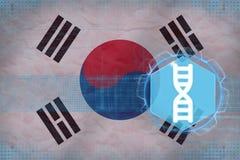 Republiken Korea Sydkorea genteknik kodbegreppsdna passade ett styckställehöger sida skallr Fotografering för Bildbyråer