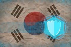 Republiken Korea Sydkorea internetskydd Elektroniskt skyddsbegrepp Royaltyfri Fotografi