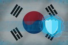 Republiken Korea Sydkorea internetskydd Netto säkerhetsbegrepp Royaltyfri Bild