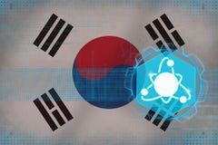 Republiken Korea Sydkorea kärnenergi Kärn- elektricitetsbegrepp Arkivbilder