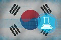 Republiken Korea Sydkorea kemi Kemiskt produktionbegrepp Arkivfoto