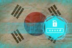 Republiken Korea Sydkorea lösenordskydd Netto skyddsbegrepp Arkivfoton