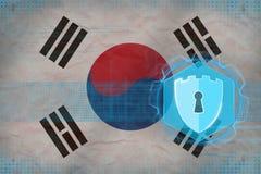 Republiken Korea Sydkorea nätverkssäkerhet Rengöringsduksäkerhetsbegrepp Arkivfoton