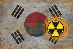 Republiken Korea Sydkorea radioaktivt hot Begrepp för utstrålningsfara Arkivbilder