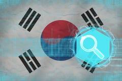 Republiken Korea Sydkorea rengöringsduksökande Digital sökandebegrepp Royaltyfria Foton