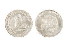 Republiken Somalia 10 dollar 1 uns silvermynt 2002 Royaltyfri Foto