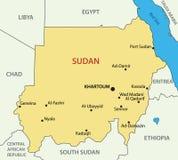Republiken Sudan - vektoröversikt royaltyfri illustrationer