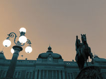 Republikfyrkant i Belgrade Arkivfoton