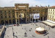 Republikfyrkant i Florence Arkivbild