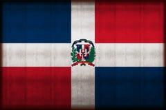Republiki Dominikańskiej ośniedziała chorągwiana ilustracja ilustracji
