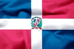 Republiki Dominikańskiej realistyczna chorągwiana ilustracja ilustracji