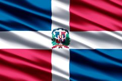 Republiki Dominikańskiej realistyczna chorągwiana ilustracja royalty ilustracja