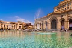 Republiki Yerevan Kwadratowy dzień Zdjęcia Stock