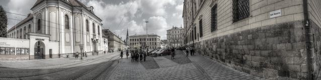 Republikquadrat in Olomouc stockfoto