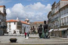 Republikquadrat in Viana do Castelo, Portugal Stockfotografie