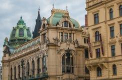Republiky广场的Court国王在布拉格 图库摄影