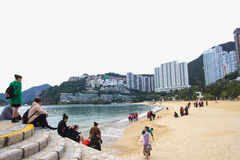 Repulse Bay, is a bay in the southern part of Hong Kong Island and nearly Kwun Yim Shrine is a Taoist shrine . Stock Image
