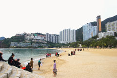 Repulse Bay, is a bay in the southern part of Hong Kong Island and nearly Kwun Yim Shrine is a Taoist shrine . Royalty Free Stock Images