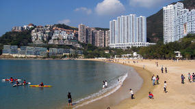 Repulse Bay in Hong Kong. Repulse bay a in Hong Kong an area with luxury apartments on the beach Stock Photos