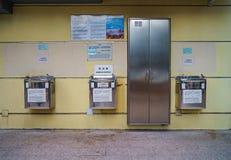 Repulse Bay, Hongkong - November 19, 2015: Public drinking fountains Stock Photo