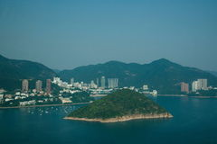 Repulse Bay overlooking the yacht Ocean Park Ocean Park Tower Royalty Free Stock Photo