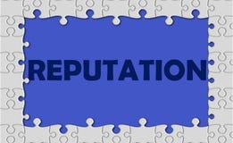 Reputatie met figuurzaaggrens Stock Fotografie
