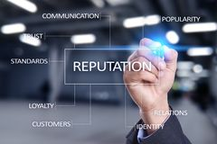 Reputation and customer relationship business concept on virtual screen Royalty Free Stock Images