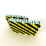 Reputation Management. With Warning Stripes Stock Images