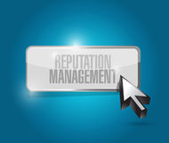 Reputation management button illustration design Stock Image