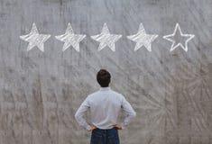 Reputation management concept, rating stock photo