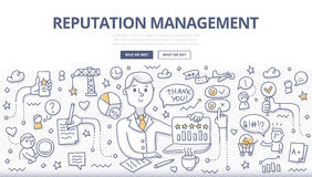 Reputation Management Doodle Concept Stock Photography