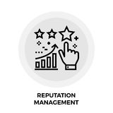 Reputation Management Line Icon. Reputation Management icon vector. Flat icon isolated on the white background. Editable EPS file. Vector illustration Royalty Free Stock Images