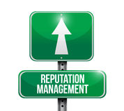 reputation management road sign illustration stock illustration