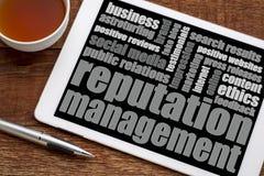 Reputation management word cloud Royalty Free Stock Photos