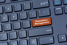Reputation Management words on keyboard. Computer Stock Photo