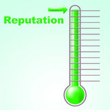 Reputation Thermometer Shows Mercury Credibility And Temperature Royalty Free Stock Photo