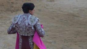 Requena, Испания - 2-ое сентября 2017: Bullfighter в арене Испании
