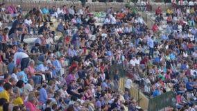 REQUENA, ESPAGNE - 2 SEPTEMBRE 2017 : Arène, Jesus Duque, tradition espagnole banque de vidéos