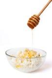 Requesón con la miel Foto de archivo