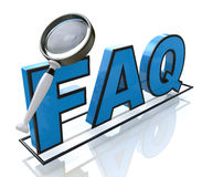 Request FAQ. In the design of the information related to the search for answers stock illustration