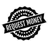 Request Money rubber stamp. Grunge design with dust scratches. Effects can be easily removed for a clean, crisp look. Color is easily changed Stock Photography