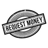 Request Money rubber stamp. Grunge design with dust scratches. Effects can be easily removed for a clean, crisp look. Color is easily changed Royalty Free Stock Photos