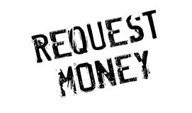 Request Money rubber stamp. Grunge design with dust scratches. Effects can be easily removed for a clean, crisp look. Color is easily changed Royalty Free Stock Photography