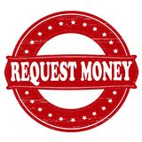 Request money. Stamp with text request money inside,  illustration Stock Images