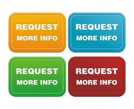 Request more info button. Suitable for user interface Stock Image