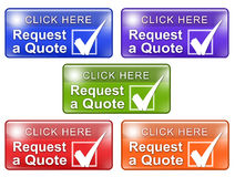 Request a Quote Web Buttons w Check Mark royalty free stock photo