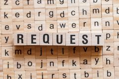 Request word concept stock image
