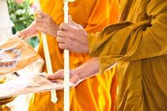 Requiem dei monaci per la liturgia funerea Fotografia Stock