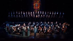 Requiem door Verdi stock footage