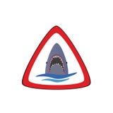 Requin dans la partie deux de mer Images libres de droits